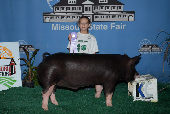 RESERVE CHAMPION 4-H BERKSHIRE BARROW