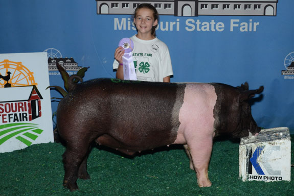 RESERVE CHAMPION 4-H HAMPSHIRE BARROW
