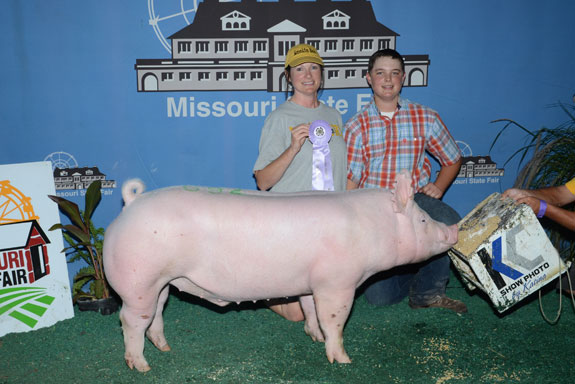 RESERVE CHAMPION 4-H YORKSHIRE BARROW