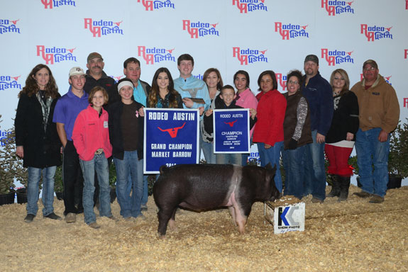 GRAND CHAMPION OVERALL BARROW & CHAMPION HAMPSHIRE
