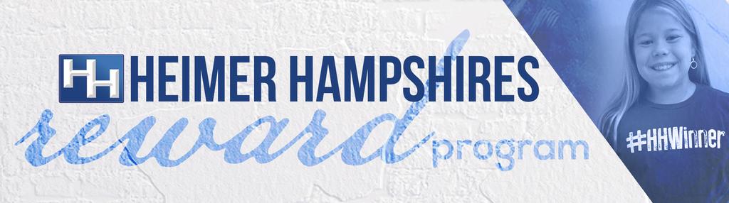 Heimer Hampshires Rewards Program Banner